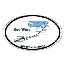 Key West - Map Design. Decal