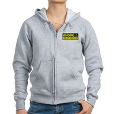 Personalize It, Warning Sign Zip Hoodie