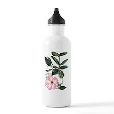 Vintage Pink Morning Glory Water Bottle