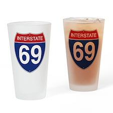 Interstate 69 Drinking Glass