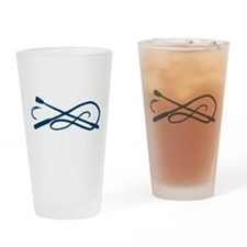 Blue Whip Crop Motif Drinking Glass