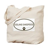 Oval Iceland Sheepdog Tote Bag
