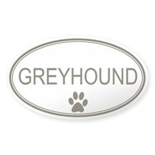 Oval Greyhound Oval Decal