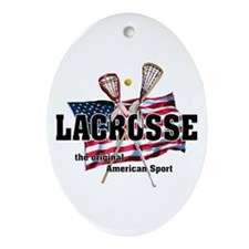 Lacrosse Oval Ornament