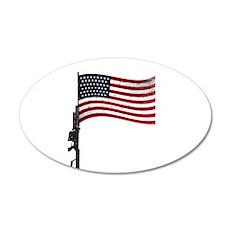 Gun Flag Black Wall Decal
