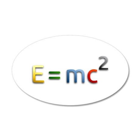 Einstein E=mc2 Wall Decal