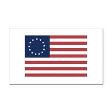 13 Star Colonial American Flag Rectangle Car Magne