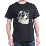 Blue Australian Shepherd Dark Colored T-Shirt