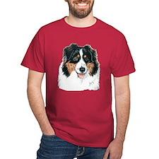Tri Australian Shepherd Dark Colored T-Shirt