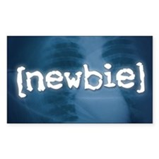 """Newbie"" Rectangle Decal"