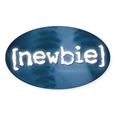 """Newbie"" Oval Decal"
