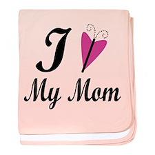I Heart My Mom baby blanket