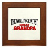 """The World's Greatest Great Grandpa"" Framed Tile"