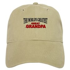 """The World's Greatest Great Grandpa"" Baseball Cap"