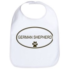 Oval German Shepherd Bib