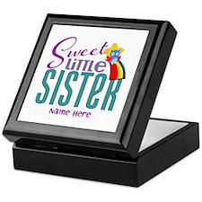 Personalized Name Sweet Little Sister Keepsake Box
