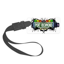 Port Richmond Staten Island NYC (White) Luggage Tag