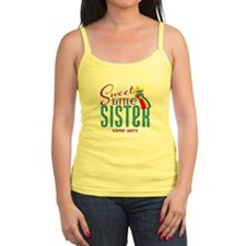 Personalized Name Sweet Little Sister Tank Top