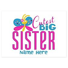 Personalized Big Sister Invitations