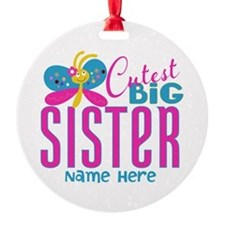 Personalized Big Sister Round Ornament