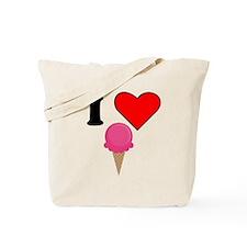 I Heart Ice Cream (Pink) Tote Bag