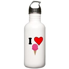 I Heart Ice Cream (Pink) Sports Water Bottle