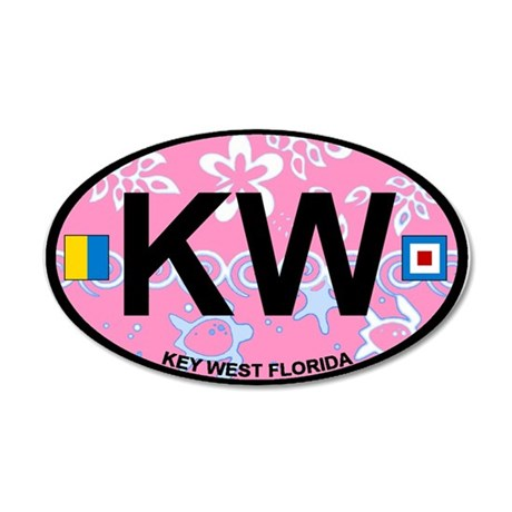 Key West - Oval Design. 35x21 Oval Wall Decal