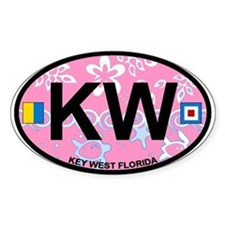 Key West - Oval Design. Decal