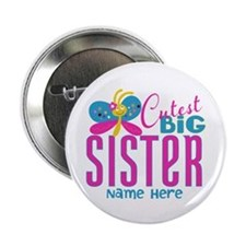 "Personalized Big Sister 2.25"" Button (100 pack)"