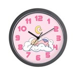 Baby on Cloud (Pink) Wall Clock