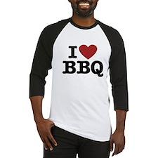 I heart BBQ Baseball Jersey