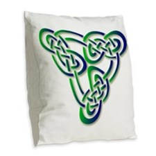 triskele-pb.png Burlap Throw Pillow