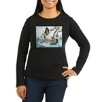 Flying Homer Pigeons Women's Long Sleeve Dark T-Sh