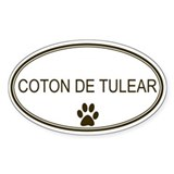 Oval Coton de Tulear Oval Decal