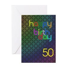 50th Birthday card for a man Greeting Card