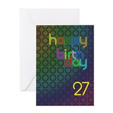 27th Birthday card for a man Greeting Card
