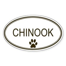 Oval Chinook Oval Decal