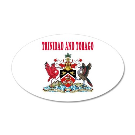 Trinidad and Tobago Coat Of Arms Designs 20x12 Ova