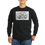 Shortface Tumbler Pigeons Long Sleeve Dark T-Shirt