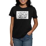 Shortface Tumbler Pigeons Women's Dark T-Shirt