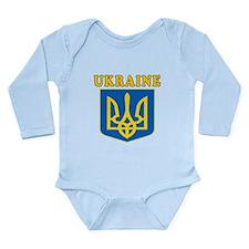 Ukraine Coat Of Arms Designs Long Sleeve Infant Bo