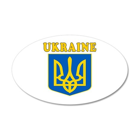 Ukraine Coat Of Arms Designs 20x12 Oval Wall Decal