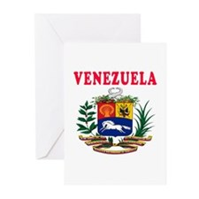 Venezuela Coat Of Arms Designs Greeting Cards (Pk