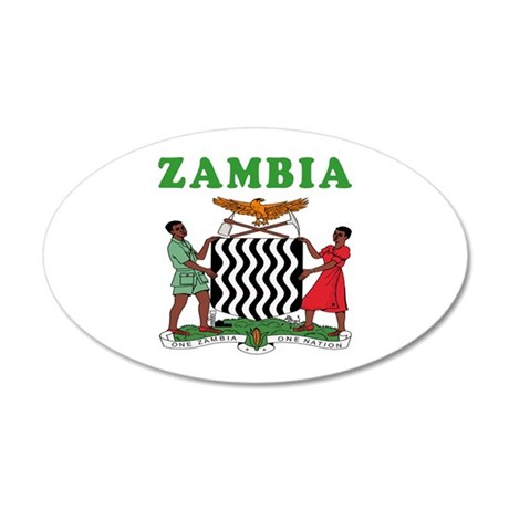 Zambia Coat Of Arms Designs 20x12 Oval Wall Decal