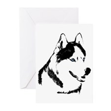 Siberian Husky Cards Sled Dog Greeting Cards 20 pk