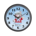 Hippo Sailor Wall Clock