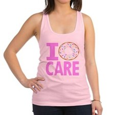 I Donut Care Racerback Tank Top