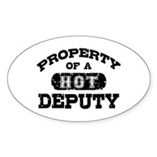 Property of a Hot Deputy Decal