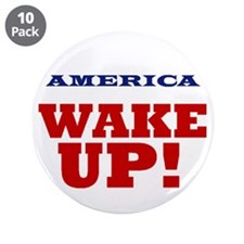 "Wake Up 3.5"" Button (10 pack)"