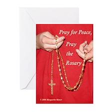 Pray Rosary Greeting Cards (Pk of 10)